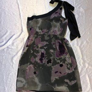 NWT KENSIE One Shoulder Ink Blot Dress
